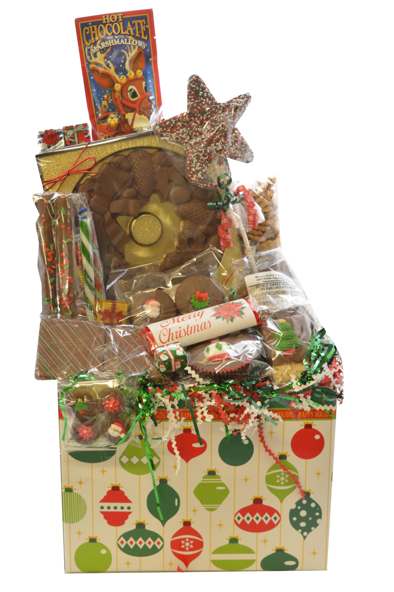 Christmas Ornament Box | Mary\'s Cakery and Candy Kitchen